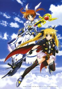 Rating: Safe Score: 17 Tags: fate_testarossa hashimoto_takayoshi mahou_shoujo_lyrical_nanoha mahou_shoujo_lyrical_nanoha_a's mahou_shoujo_lyrical_nanoha_the_movie_2nd_a's takamachi_nanoha thighhighs User: drop