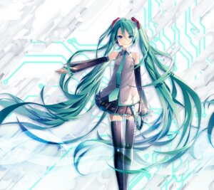Rating: Safe Score: 53 Tags: hatsune_miku headphones ixima tagme thighhighs vocaloid User: eccdbb