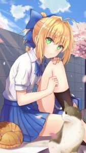 Rating: Safe Score: 46 Tags: fate/stay_night neko saber seifuku tagme User: seaskyjh