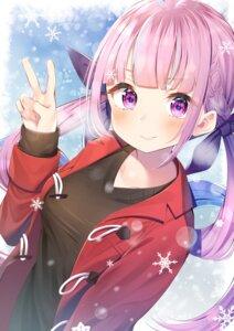 Rating: Safe Score: 12 Tags: hololive minato_aqua nari_(narikashi) sweater tagme User: Dreista