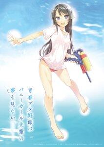 Rating: Questionable Score: 30 Tags: bikini gun mizoguchi_keiji sakurajima_mai see_through seishun_buta_yarou_series swimsuits wet User: john.doe