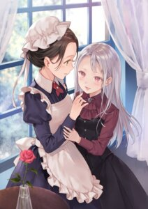 Rating: Safe Score: 53 Tags: fukahire_sanba maid yuri User: Mr_GT