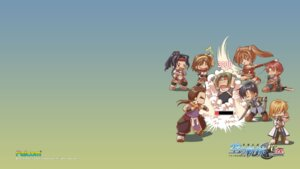 Rating: Safe Score: 5 Tags: anelace_elfeed chibi eiyuu_densetsu estelle_bright falcom joshua_bright olivier_lenheim wallpaper zin_vathek User: aluter