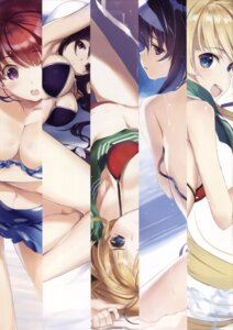 Rating: Questionable Score: 35 Tags: bikini breast_hold cleavage hashima_izumi kasumigaoka_utaha nakamura_takeshi open_shirt saenai_heroine_no_sodatekata sawamura_spencer_eriri swimsuits wardrobe_malfunction User: h_12439