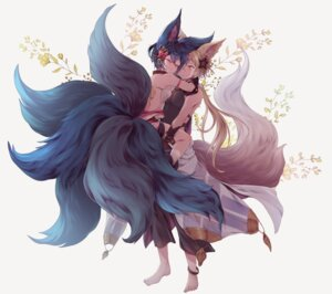 Rating: Safe Score: 15 Tags: animal_ears granblue_fantasy kitsune kou_(granblue_fantasy) tagme tail you_(granblue_fantasy) User: BattlequeenYume