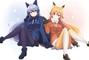 Rating: Safe Score: 36 Tags: animal_ears ezo_red_fox kemono_friends nagiha_kuten pantyhose silver_fox tail User: Mr_GT