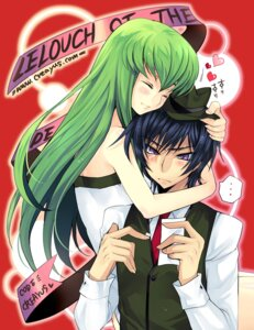 Rating: Safe Score: 16 Tags: c.c. code_geass creayus dress lelouch_lamperouge rangetsu User: Radioactive