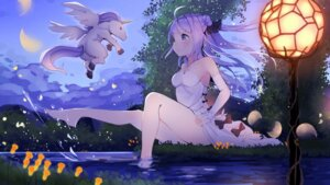 Rating: Safe Score: 94 Tags: azur_lane cleavage dress unicorn_(azur_lane) wankoo-mikami wet User: Mr_GT
