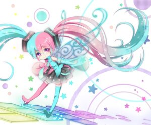 Rating: Safe Score: 21 Tags: chibi fairy hatsune_miku see_through thighhighs toki_(toki-master) vocaloid wings User: demon2