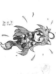 Rating: Safe Score: 0 Tags: chibi izumi_konata lucky_star monochrome sketch User: 凌汐咲