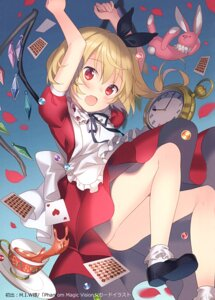 Rating: Questionable Score: 23 Tags: alice alice_in_wonderland cosplay dress flandre_scarlet rie skirt_lift touhou wings User: Radioactive