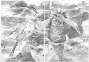 Rating: Safe Score: 2 Tags: blade_of_the_immortal gap male monochrome samura_hiroaki sword User: Radioactive