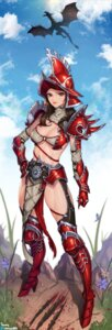 Rating: Questionable Score: 30 Tags: armor bikini_top blood choney cleavage heels monster stockings tagme thighhighs torn_clothes underboob User: Radioactive