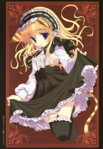 Rating: Safe Score: 24 Tags: animal_ears blue_wind gothic_lolita lolita_fashion maid minato_hiromu nekomimi skirt_lift stockings tail thighhighs User: waha