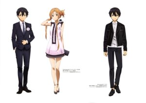 Rating: Safe Score: 31 Tags: asai_seiko asuna_(sword_art_online) business_suit dress kirito nishiguchi_tomoya sword_art_online User: drop