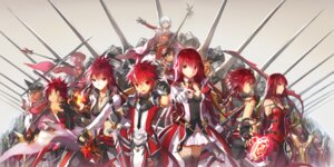 Rating: Safe Score: 28 Tags: cleavage elesis elsword elsword_(elsword) roochan thighhighs weapon User: KazukiNanako