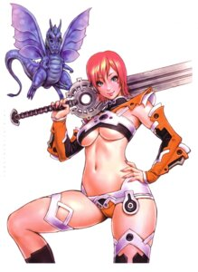 Rating: Safe Score: 23 Tags: monster sword thighhighs underboob yamashita_shunya User: Radioactive