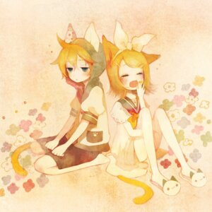 Rating: Safe Score: 10 Tags: kagamine_len kagamine_rin pechika vocaloid User: charunetra