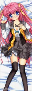 Rating: Questionable Score: 21 Tags: bra dakimakura hinoue_itaru open_shirt school_heart's stick_poster thighhighs User: admin2