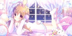 Rating: Safe Score: 58 Tags: animal_ears bunny_ears headphones shiratama tail User: Mr_GT