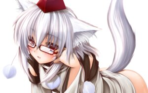 Rating: Questionable Score: 32 Tags: animal_ears bottomless inubashiri_momiji .npg tail touhou wallpaper User: SlenderMan