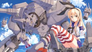 Rating: Safe Score: 68 Tags: kantai_collection mecha rensouhou-chan shimakaze_(kancolle) terras thighhighs User: tbchyu001