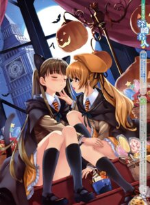 Rating: Questionable Score: 62 Tags: animal_ears halloween misaki_kurehito nekomimi seifuku User: Aurelia