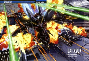Rating: Safe Score: 14 Tags: gun gundam gundam_seed mecha shigeta_satoshi sword User: drop