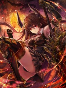 Rating: Safe Score: 57 Tags: armor cleavage forte_(shingeki_no_bahamut) horns pantsu saya_kuroha shingeki_no_bahamut sword thighhighs User: Mr_GT