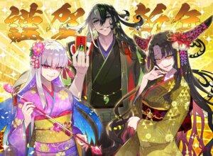 Rating: Questionable Score: 7 Tags: fate/grand_order horns japanese_clothes kama_(fate/grand_order) kimono redrop sessyoin_kiara User: bladecustom