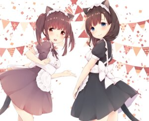 Rating: Safe Score: 50 Tags: animal_ears azuki_(krps-hano) maid nekomimi tail User: Mr_GT