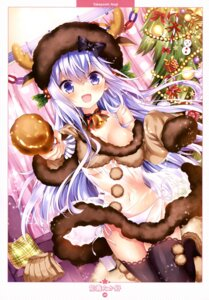 Rating: Questionable Score: 77 Tags: animal_ears areola christmas dress horns no_bra nogi_takayoshi pantsu see_through string_panties thighhighs User: drop