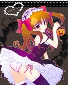 Rating: Questionable Score: 57 Tags: ame_to_yuki dress halloween lolita_fashion pantsu shirai_kuroko thighhighs to_aru_kagaku_no_railgun to_aru_majutsu_no_index User: Chris086