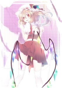 Rating: Safe Score: 24 Tags: flandre_scarlet riichu thighhighs touhou wings User: Nekotsúh