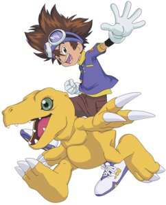 Rating: Safe Score: 6 Tags: agumon digimon digimon_adventure male vector_trace yagami_taichi User: Radioactive