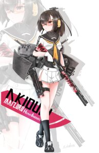Rating: Safe Score: 25 Tags: akizuki_(kancolle) gun headphones kantai_collection seifuku sekino_takehiro User: fairyren