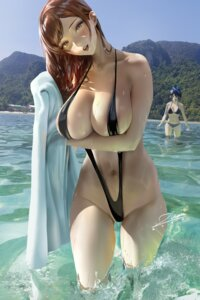 Rating: Questionable Score: 57 Tags: areola bikini kanojo_okarishimasu mizuhara_chizuru sarashina_ruka sling_bikini swimsuits towel wet zumi_(zumidraws) User: BattlequeenYume