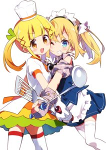 Rating: Safe Score: 20 Tags: amaryllis_class cookpad-tan kotohara_hinari maid tama_(tama-s) thighhighs User: Radioactive