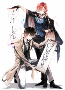 Rating: Safe Score: 9 Tags: bandages bungou_stray_dogs dazai_osamu male nakahara_chuuya shun_nyun User: charunetra