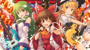 Rating: Safe Score: 21 Tags: guitar hakurei_reimu kirisame_marisa kochiya_sanae maru-pen miko touhou witch User: RyuZU