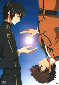Rating: Safe Score: 12 Tags: code_geass kururugi_suzaku lelouch_lamperouge male seifuku shingou_yasushi User: Radioactive