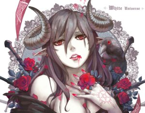 Rating: Safe Score: 36 Tags: aoiakamaou blood cleavage horns pointy_ears tattoo User: Mr_GT