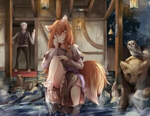 Rating: Safe Score: 7 Tags: animal_ears craft_lawrence feet holo skirt_lift spice_and_wolf tagme tail wet User: dick_dickinson