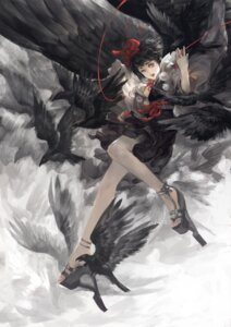 Rating: Safe Score: 26 Tags: alcd shameimaru_aya touhou wings User: Mr_GT