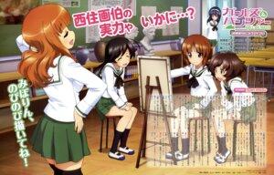 Rating: Safe Score: 25 Tags: akiyama_yukari girls_und_panzer isuzu_hana itou_takeshi nishizumi_miho reizei_mako seifuku takebe_saori thighhighs User: drop