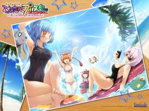 Rating: Questionable Score: 13 Tags: animal_ears bikini cleavage escu:de hanataka_retomo mitsuki_mantarou mizunezumi otome_renshin_prister swimsuits wallpaper User: blooregardo