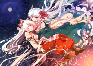Rating: Safe Score: 45 Tags: dress fujiwara_no_mokou horns kamishirasawa_keine kaze_yetworldview touhou User: Mr_GT