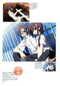 Rating: Safe Score: 3 Tags: keroq minakami_yuki seifuku subarashiki_hibi thighhighs yuki_tomosane User: crim