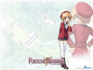 Rating: Safe Score: 8 Tags: bekkankou fortune_arterial seifuku thighhighs wallpaper yuuki_kanade User: admin2
