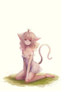 Rating: Safe Score: 47 Tags: aka_tonbo animal_ears dress nekomimi tail User: nphuongsun93